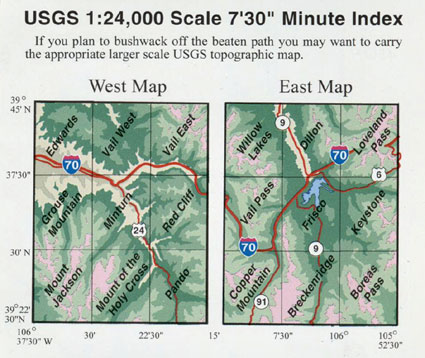 Sky Terrain Summit, Vail & Holy Cross Trail Map 4th Edition - FERAL