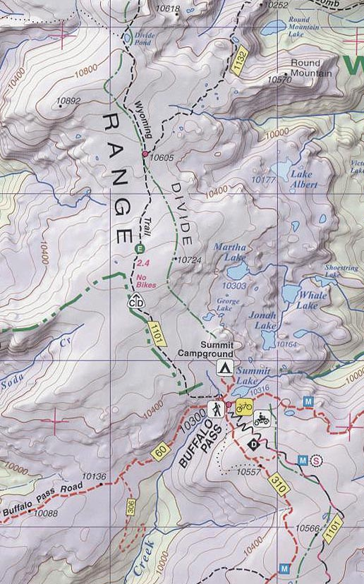 Steamboat Springs Mount Zirkel Topographic Map Buffalo Pass the Wyomin