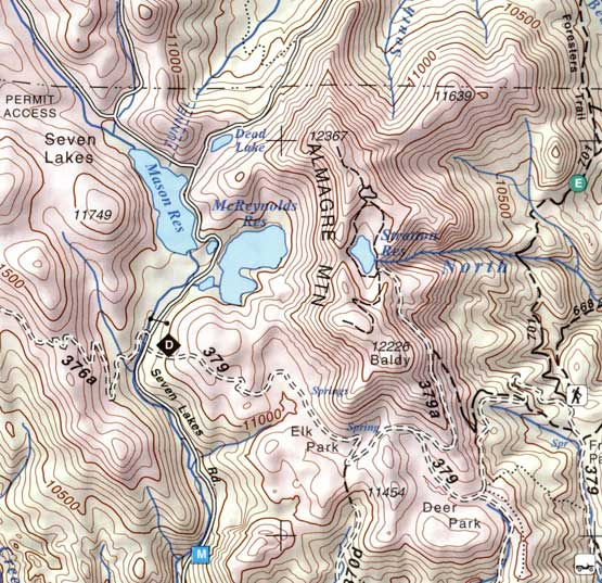 Topographic Map Colorado Springs.Colorado Springs Pikes Peak Almagre Mountain Co Topographic