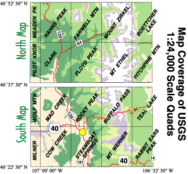 Steamboat Springs Mount Zirkel, CO Topographic Recreation Map for ...