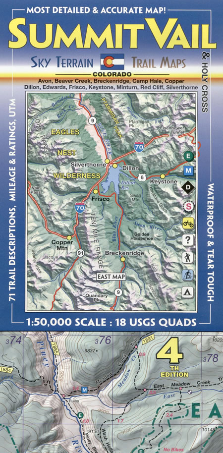 Summit Vail And Holy Cross Topographic Recreation Map For