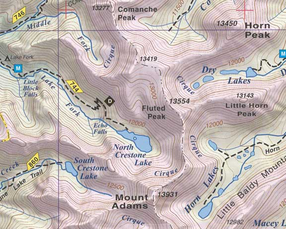 Sand Dunes Colorado Map.Sangre De Cristo And Great Sand Dunes Np Fluted Peak Co Topographic