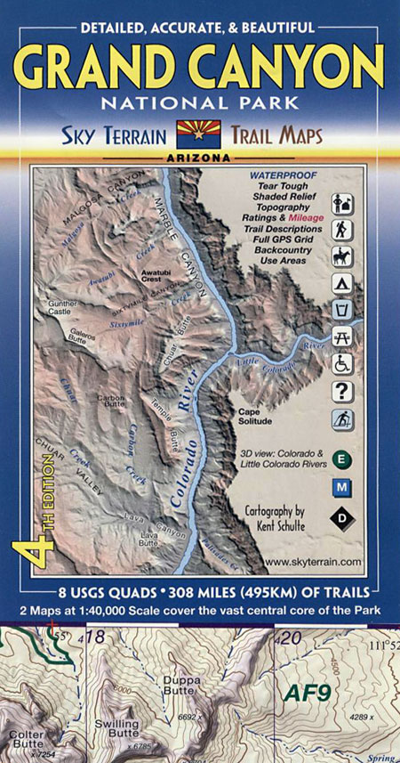 Grand Canyon National Park Topographic Recreation Map for ...