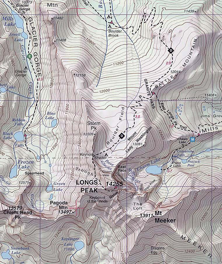 S Rocky Mountain NP and Indian Peaks, CO Topographic Recreation Map ...